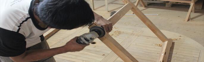 Teak Outdoor Furniture Factory Production Process