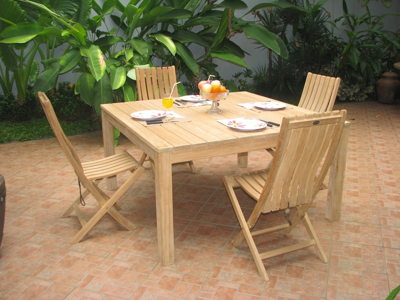 Garden Patio Sets of square dining table