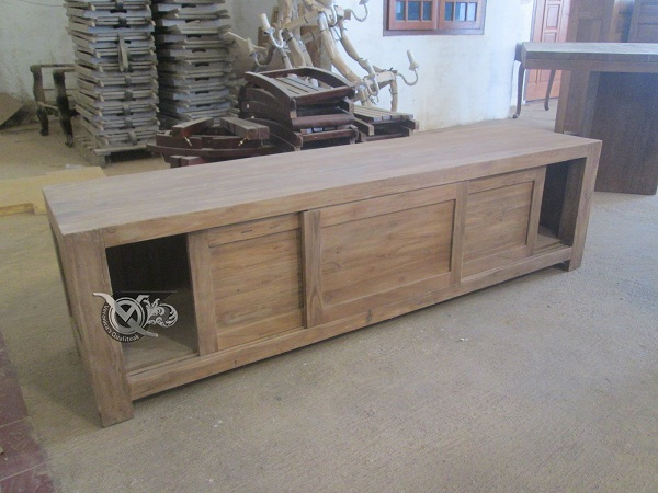 reclaimed teak furniture - credenza 1
