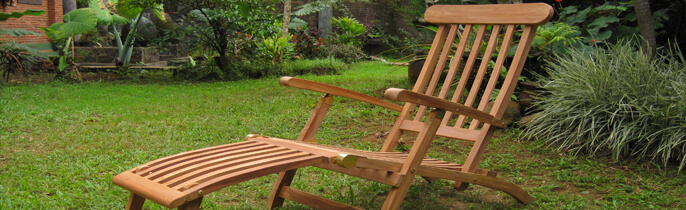 Teak Deck Chairs by Veronica Qualiteak