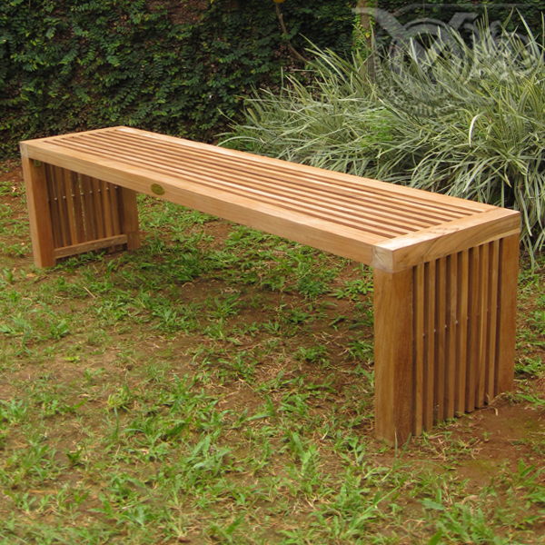 Photo Small Wooden Garden Bench Images