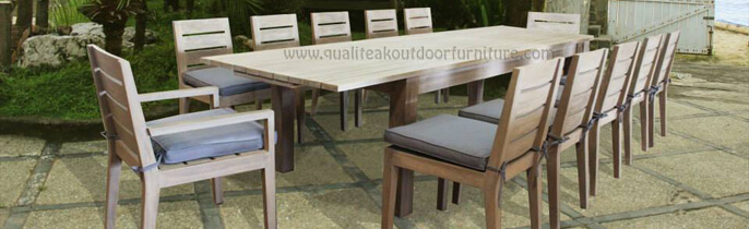 Our New Teak Outdoor Extension Table And Chairs