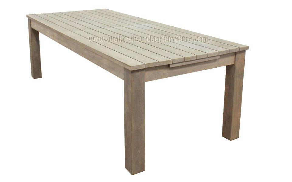 teak outdoor extension table closed