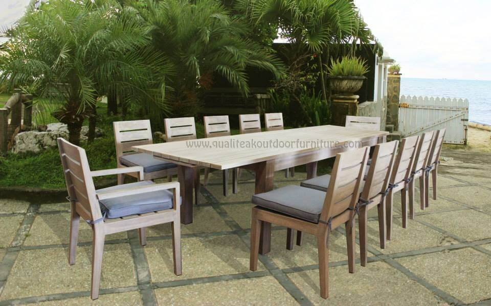 teak outdoor extension table sets
