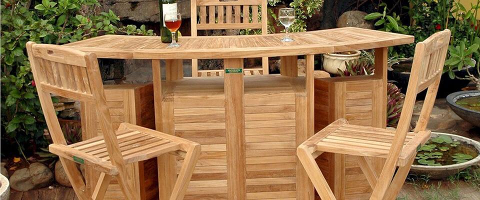Teak Bar Table Folding top