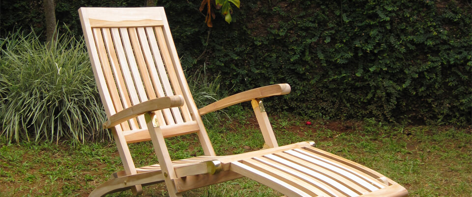 Teak deck chair new models