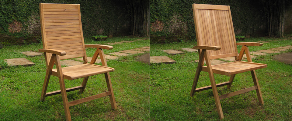 Teak reclining chair