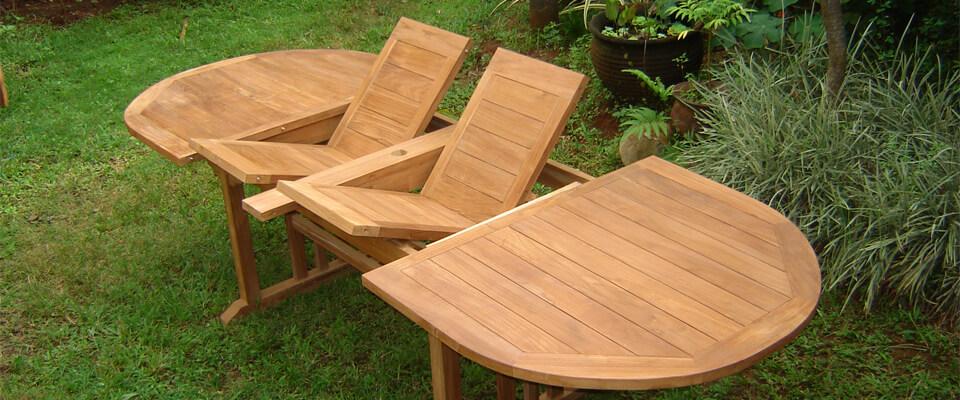 teak extension table