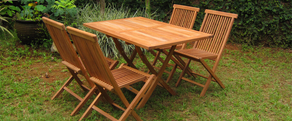 teak folding table rectangular sets