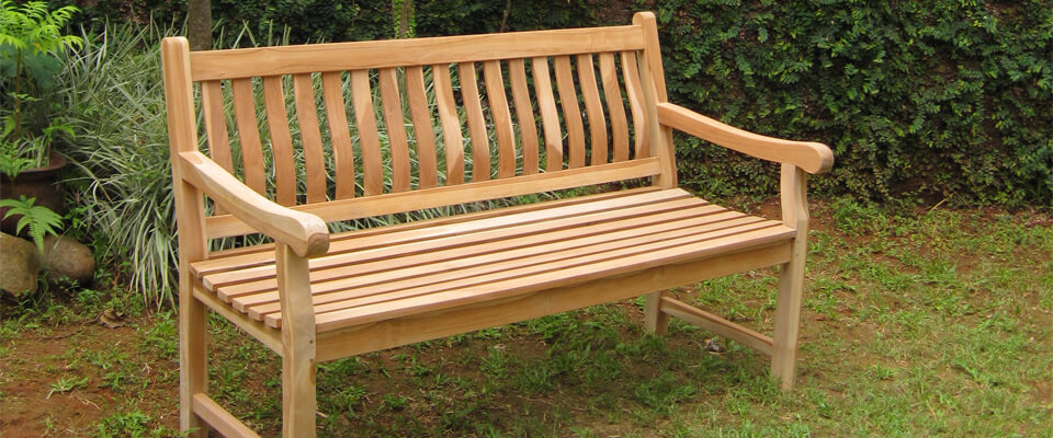 teak outdoor bench classic design