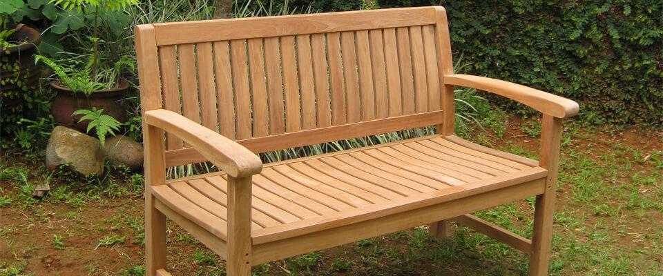 teak outdoor bench solid wood