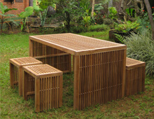 Teak outdoor sets