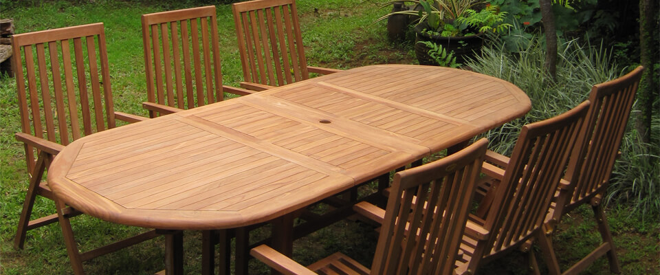 teak outdoor sets with extension table