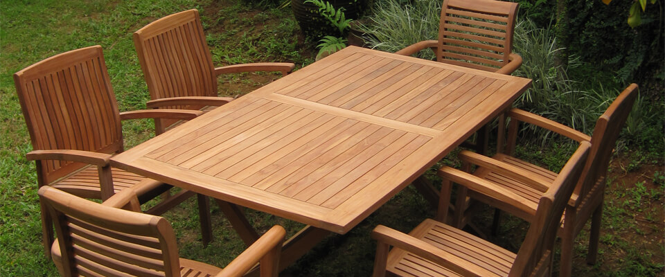 teak outdoor sets with stacking chairs