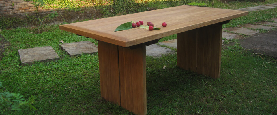 teak outdoor table solid wood