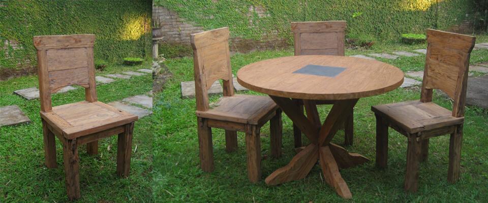 teak reclaimed furniture dining table sets