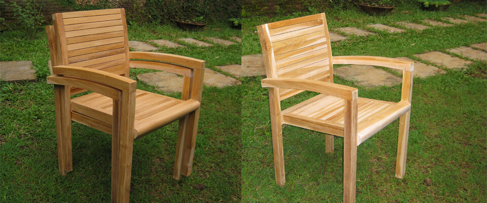 teak stacking chairs new design
