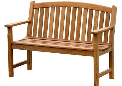Teak Outdoor Bow Back Bench