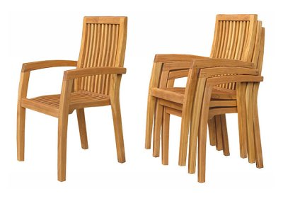 Casa Teak Stacking Chair