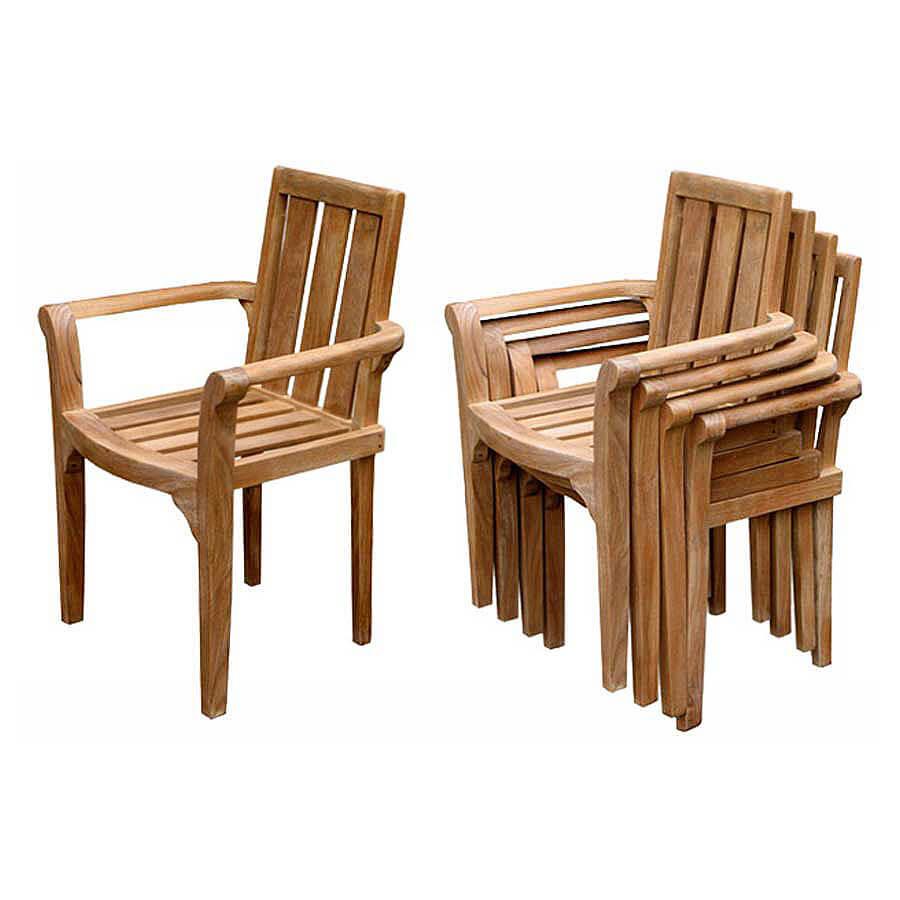 teak outdoor stacking chair