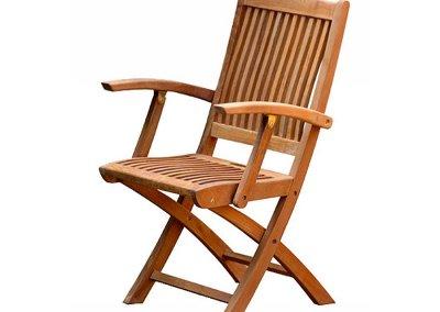 Kiffa Teak Folding Arm Chair