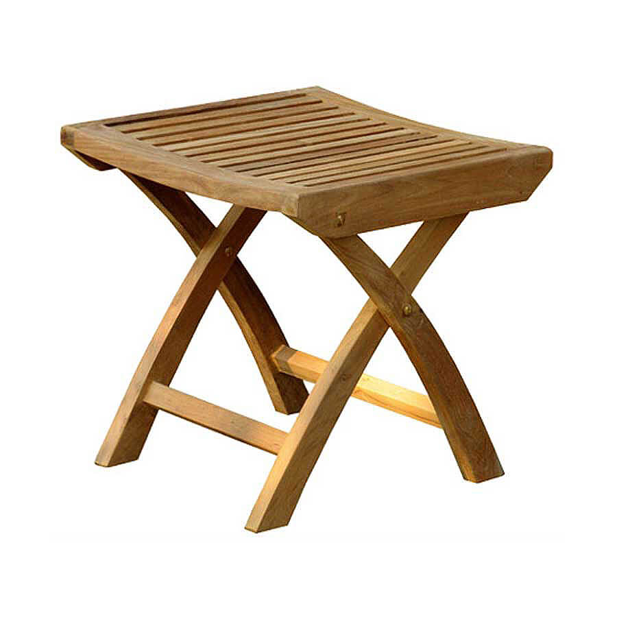 teak outdoor footstool