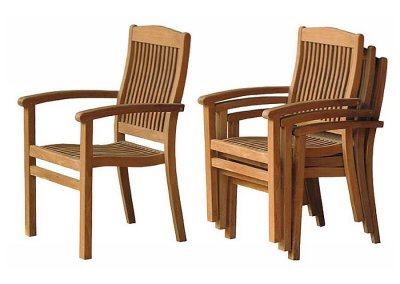 Teak Garden Manado Stacking Chair