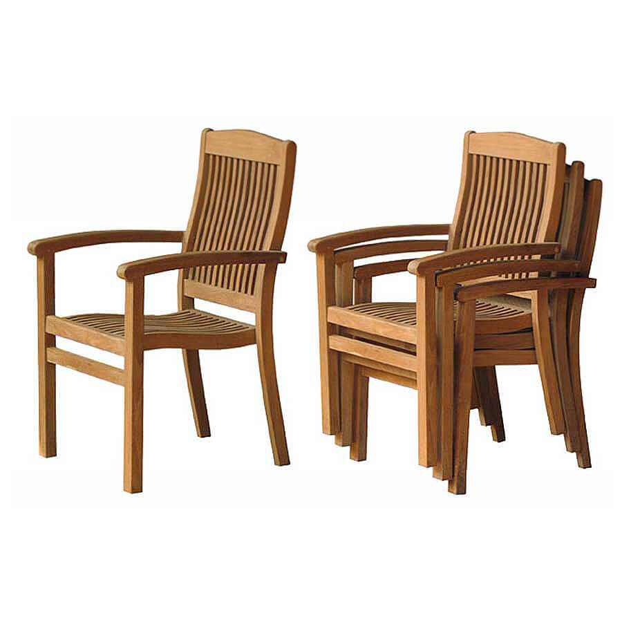 teak outdoor stacking chair