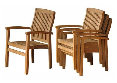 Teak Outdoor Marley Stacking Chair