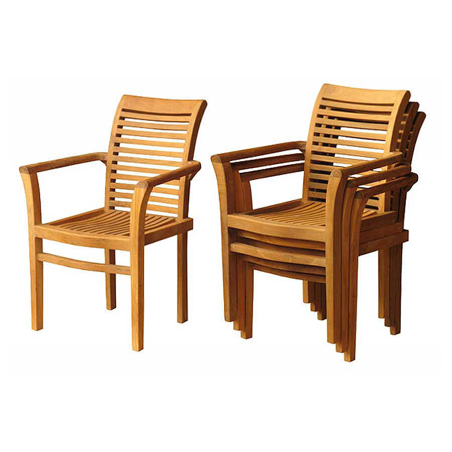 teak stacking chairs