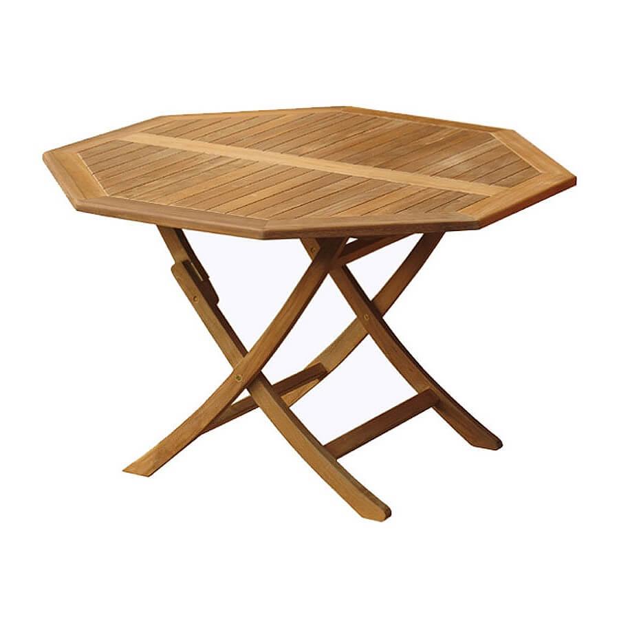 teak folding table