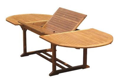 Teak Garden Oval Extension Table VX-01
