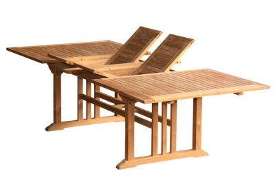 Rectangular Double Extension Table