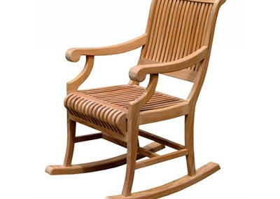 Teak Garden Castle Rocking Chair