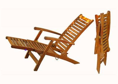 Teak Garden Folding Deck Chair