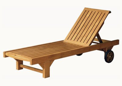 Teak Outdoor Carita Sun Lounger
