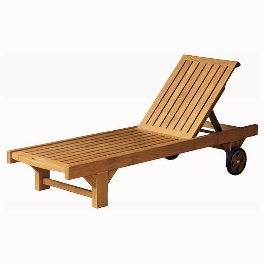 teak outdoor loungers