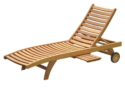 Teak Outdoor Horizon Sun Loungers