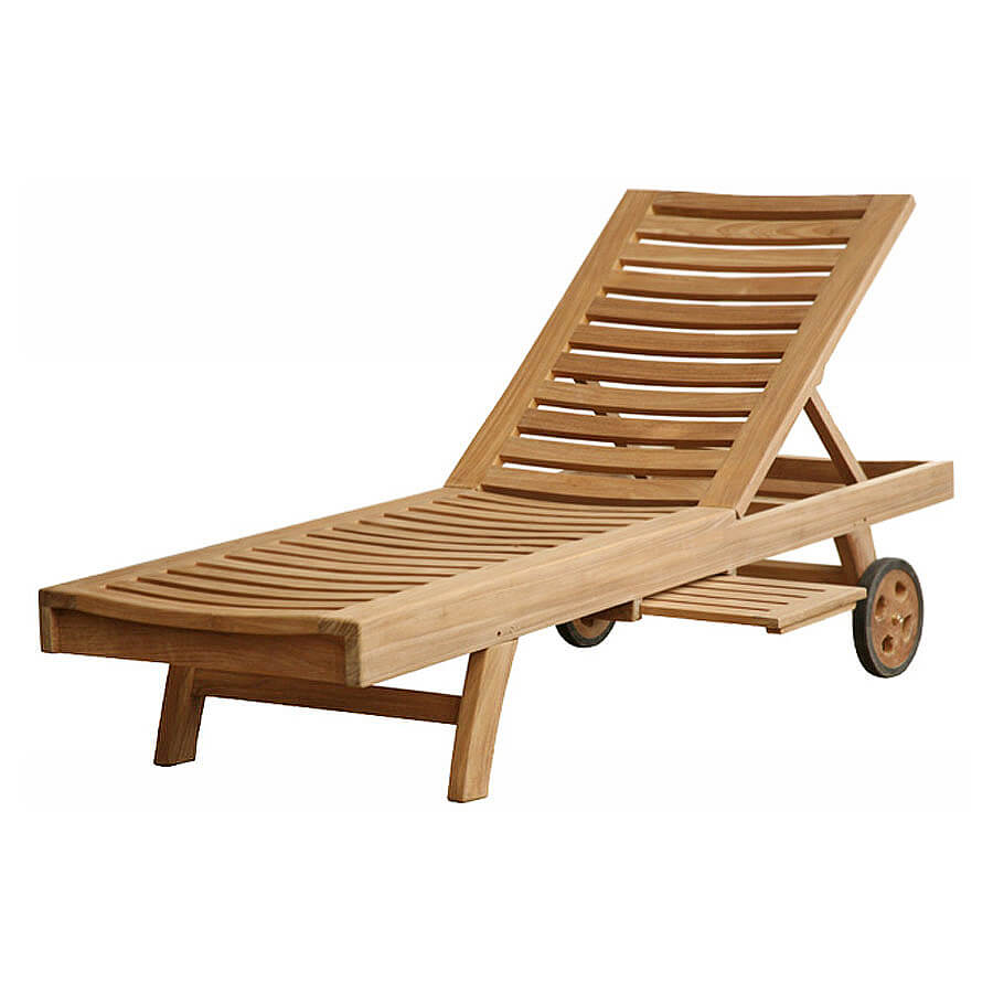 teak outdoor loungers
