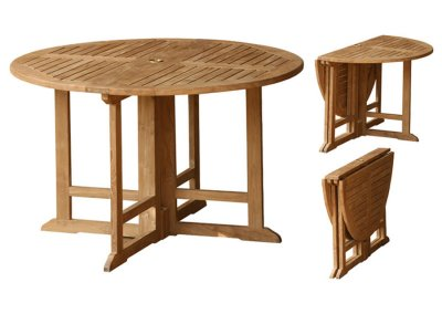 Teak Outdoor Round 100 cm Gate leg Table