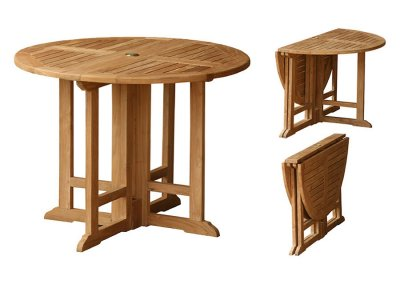 Teak Outdoor Round 80 cm Gate leg Table