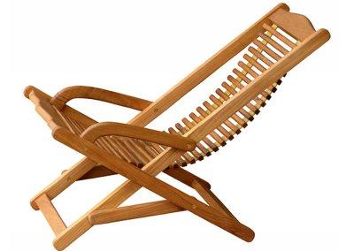 Teak Outdoor Swing Deck Chair