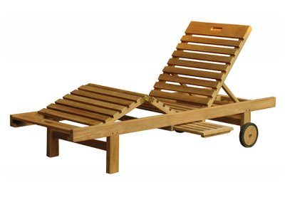 Teak Outdoor Vanavara Sun Lounger