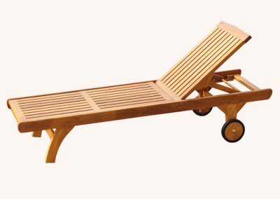 Teak Outdoor Victoria Sun Lounger