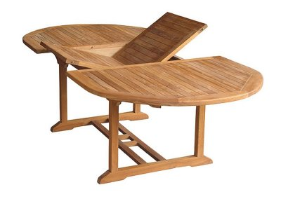 Teak Outdoor Oval Extension Table VX-02