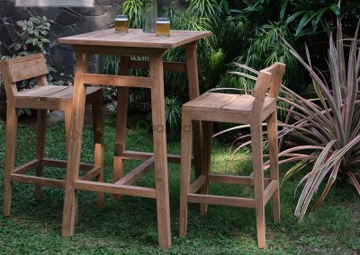 Teak Reclaimed Bar Set Moha
