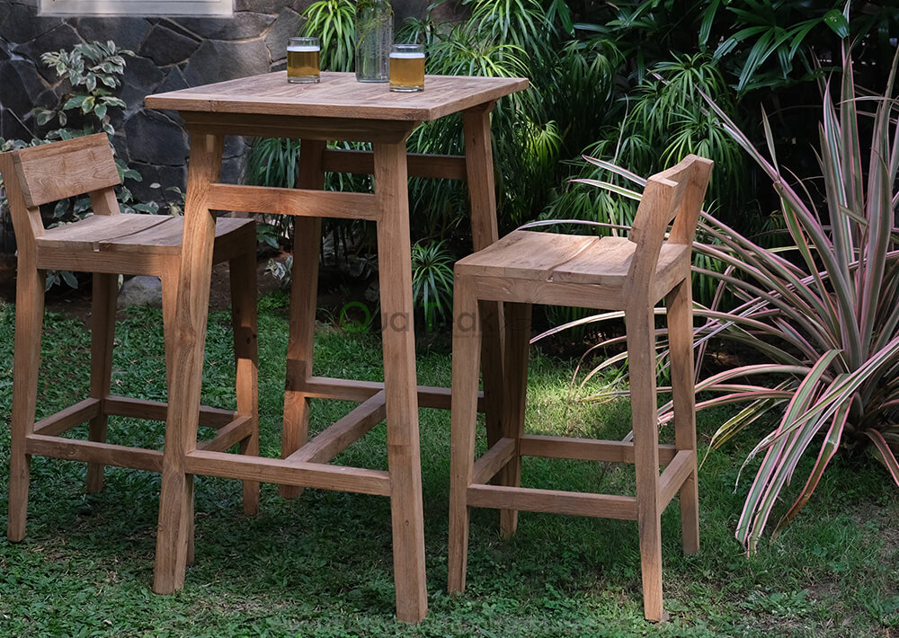 Moha teak reclaimed bar set featured image