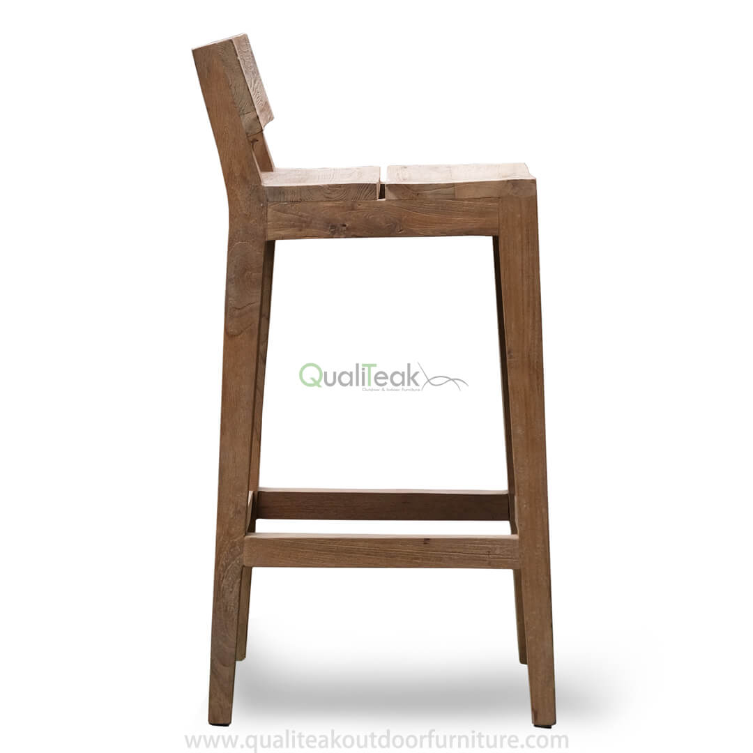 teak reclaimed bar chairs