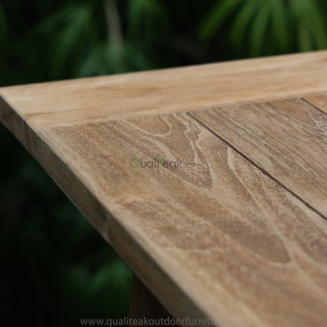 teak reclaimed bar table