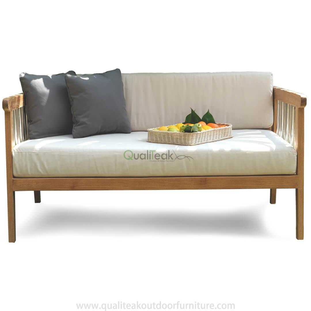 teak outdoor love seat